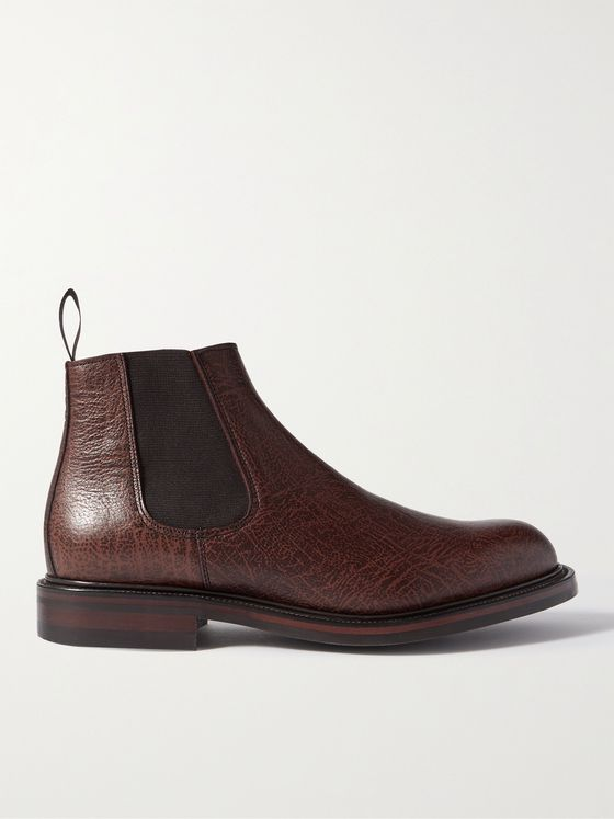 GEORGE CLEVERLEY Jason Full-Grain Leather Chelsea Boots