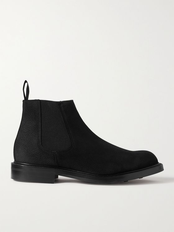 GEORGE CLEVERLEY Jason Full-Grain Suede Chelsea Boots