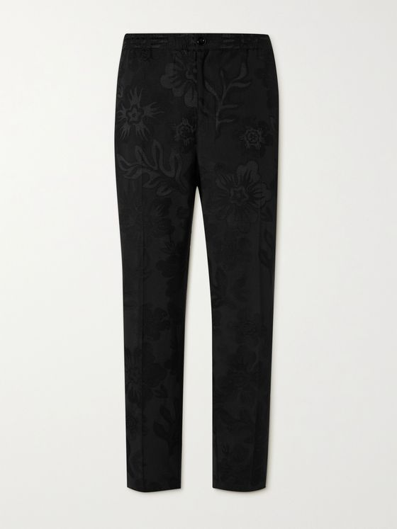 STÜSSY Bryan Floral-Jacquard Cotton-Blend Trousers