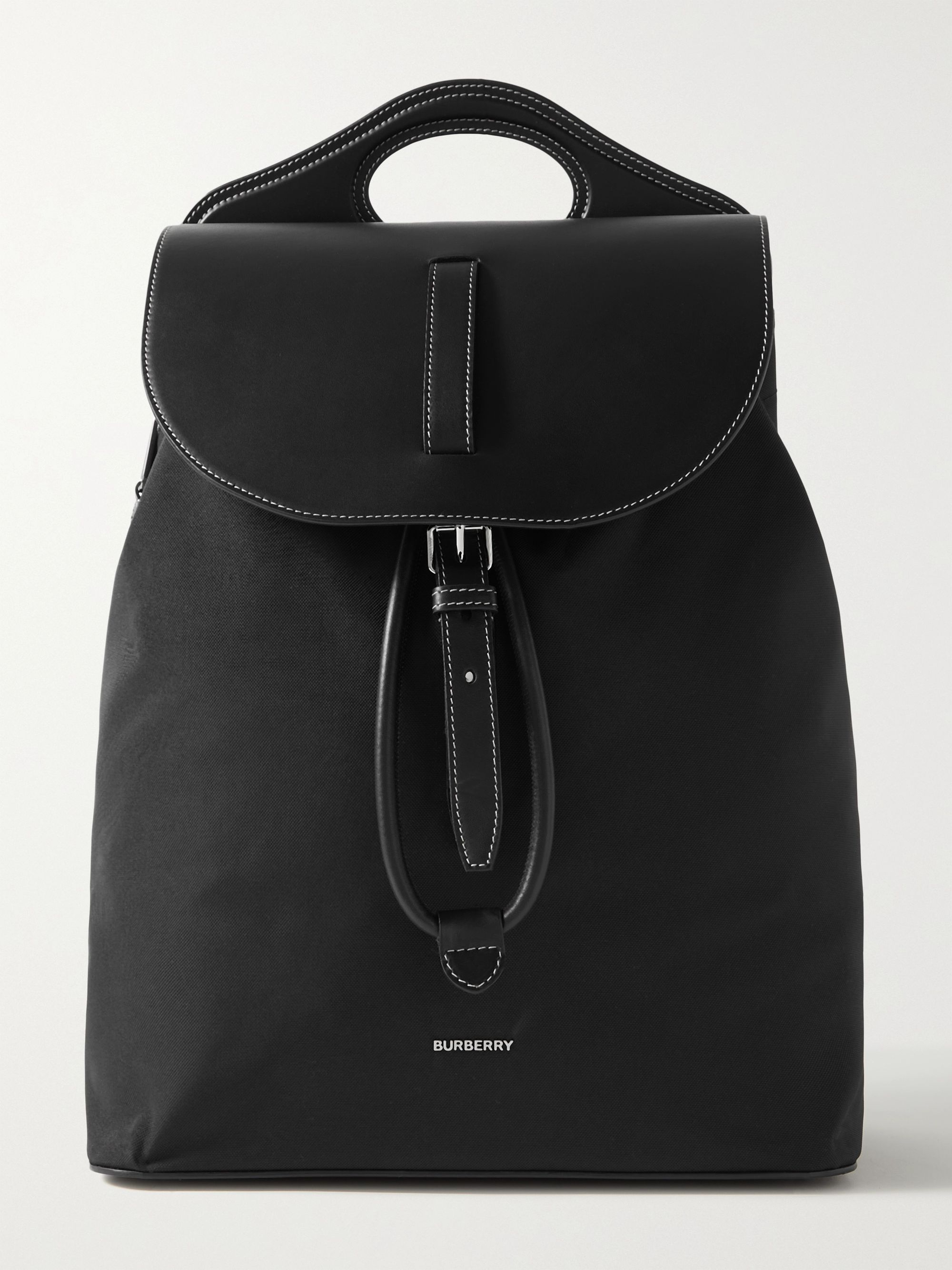 BURBERRY Leather and Nylon Backpack