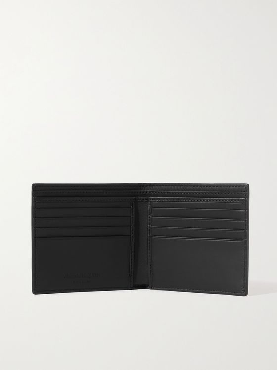 ALEXANDER MCQUEEN Logo-Print Leather Billfold Wallet