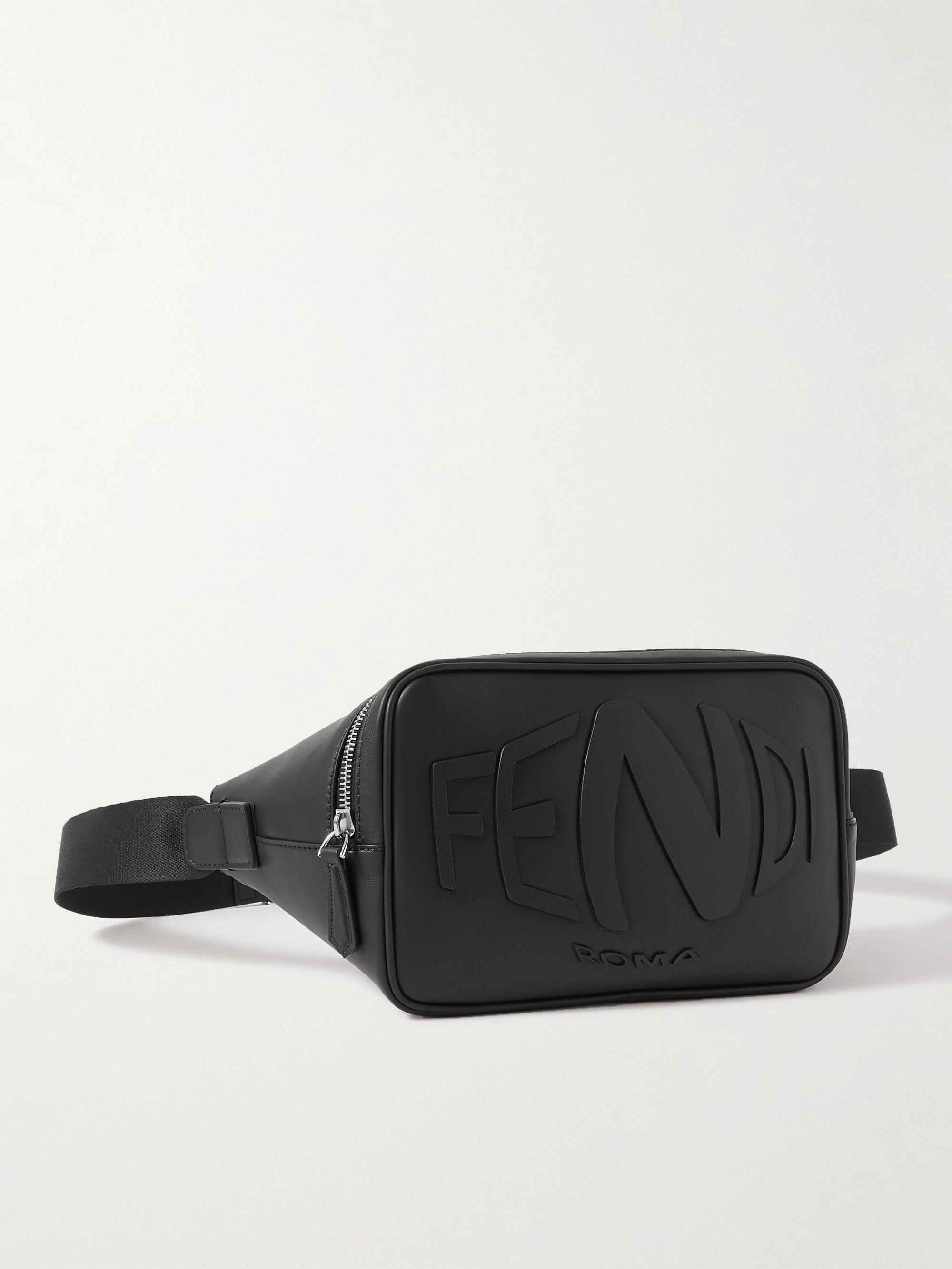 FENDI Logo-Embossed Leather Belt Bag