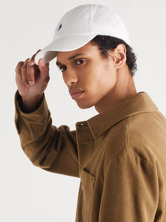 POLO RALPH LAUREN Logo-Embroidered Cotton-Twill and Mesh Baseball Cap