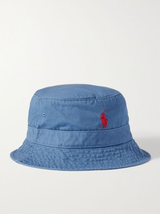 POLO RALPH LAUREN Logo-Embroidered Cotton-Twill Bucket Hat