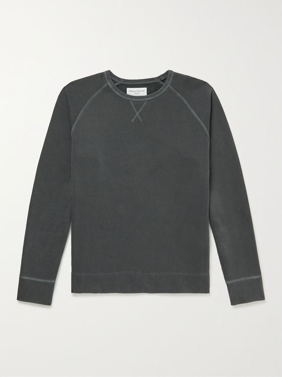 OFFICINE GÉNÉRALE Baptiste Garment-Dyed Fleece-Back Cotton-Jersey Sweatshirt