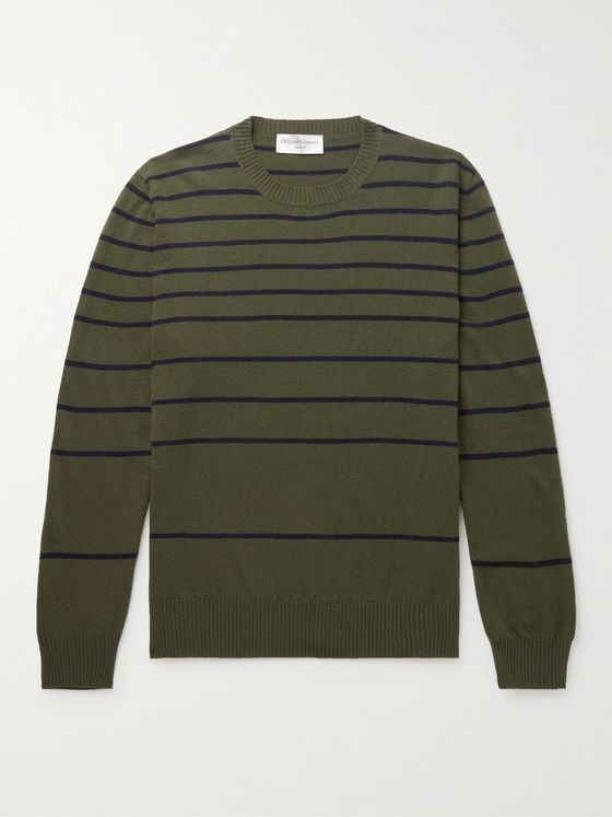 OFFICINE GÉNÉRALE Marco Striped Wool Sweater