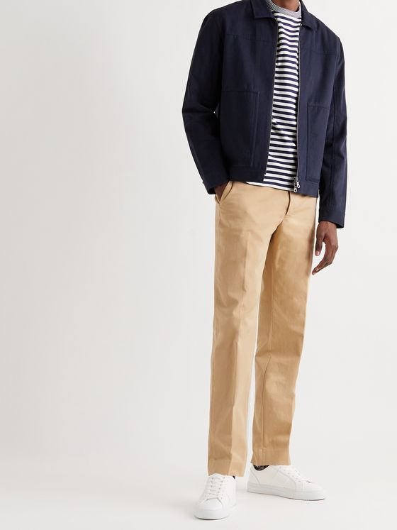 OFFICINE GÉNÉRALE Abel Tapered Cotton-Blend Twill Chinos