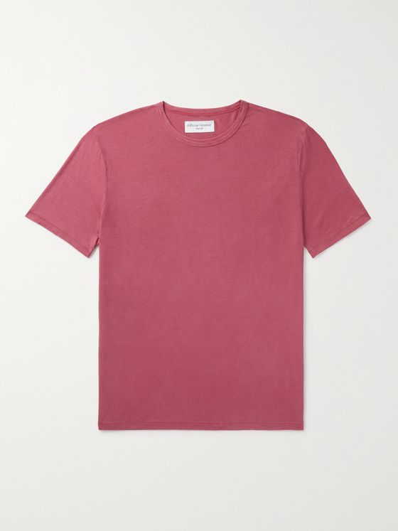 OFFICINE GÉNÉRALE Pigment-Dyed Lyocell and Cotton-Blend Jersey T-Shirt