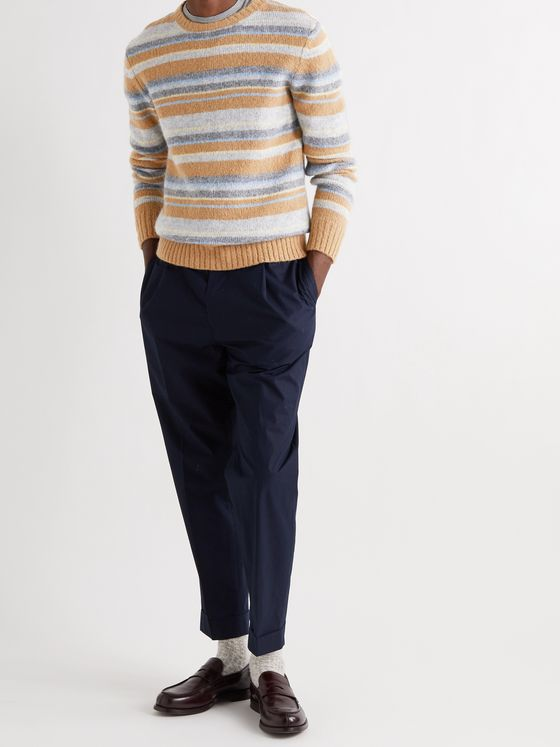 OFFICINE GÉNÉRALE Marco Striped Knitted Sweater