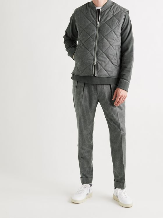 OFFICINE GÉNÉRALE Dave Quilted Mélange Virgin Wool-Blend Gilet