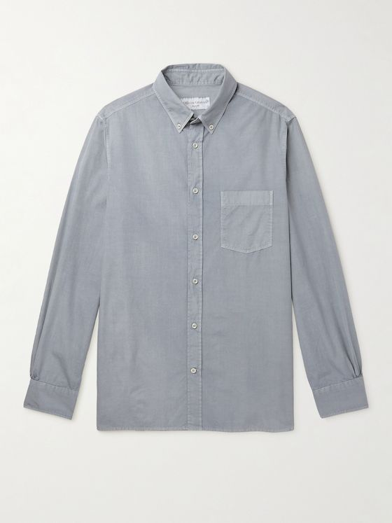 OFFICINE GÉNÉRALE Arsene Slim-Fit Button-Down Collar Cotton-Poplin Shirt