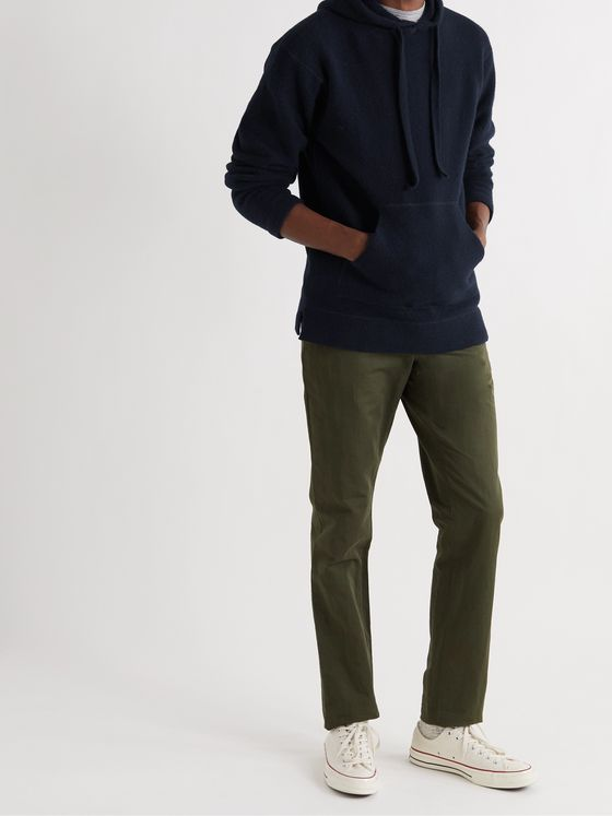 OFFICINE GÉNÉRALE Olive Wool-Blend Hoodie
