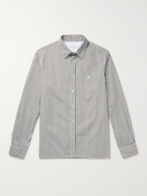 OFFICINE GÉNÉRALE Alex Striped Cotton-Poplin Shirt