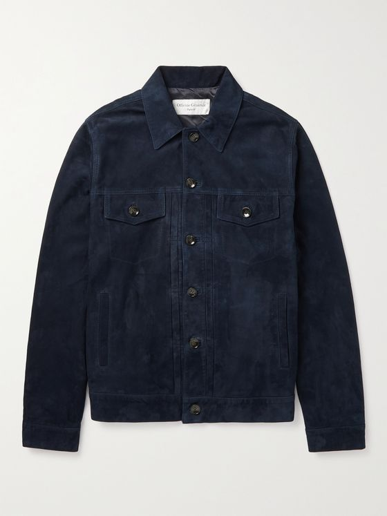 OFFICINE GÉNÉRALE Liam Suede Trucker Jacket
