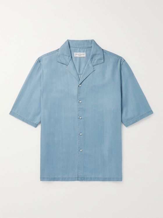 OFFICINE GÉNÉRALE Eren Camp-Collar Lyocell Shirt