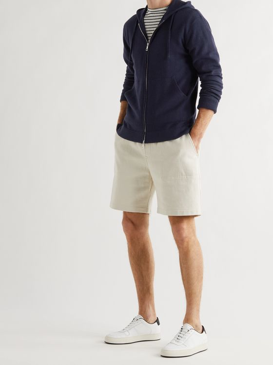 OFFICINE GÉNÉRALE Brushed Merino Wool Zip-Up Hoodie