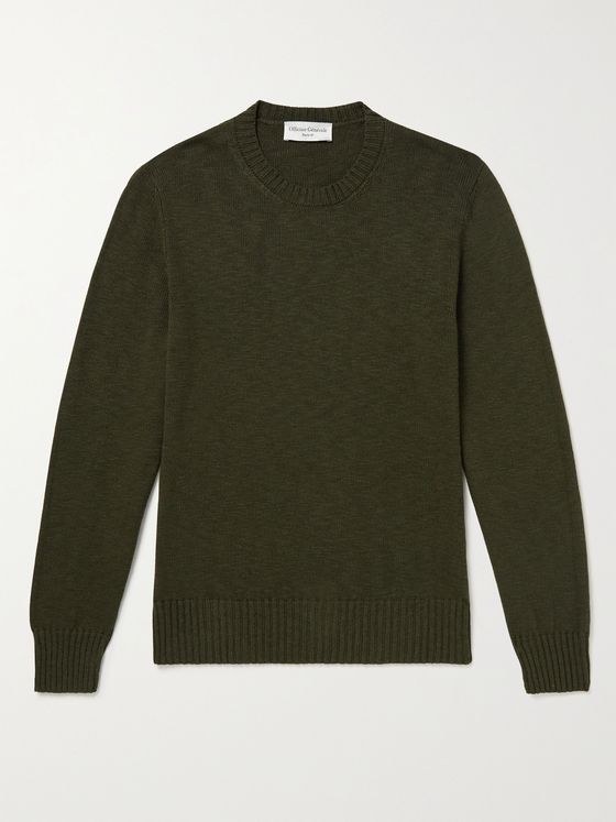 OFFICINE GÉNÉRALE Marco Cotton and Linen-Blend Sweater