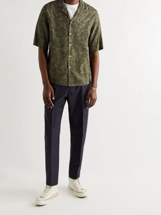 OFFICINE GÉNÉRALE Eren Camp-Collar Printed Voile Shirt