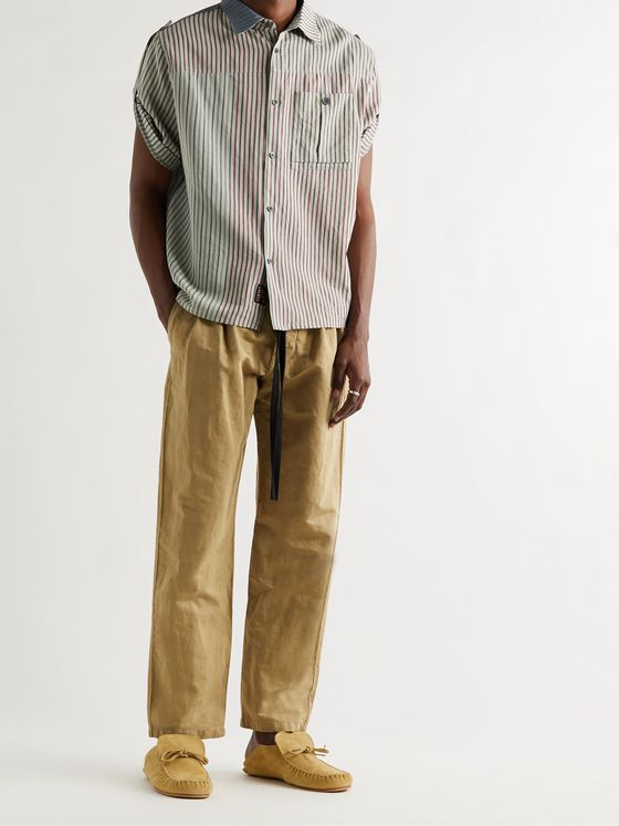 LOEWE + Paula's Ibiza Pleated Linen and Cotton-Blend Trousers