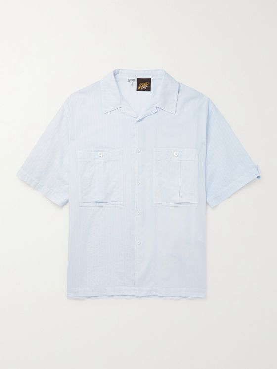 LOEWE + Paula's Ibiza Camp-Collar Cotton-Jacquard Shirt