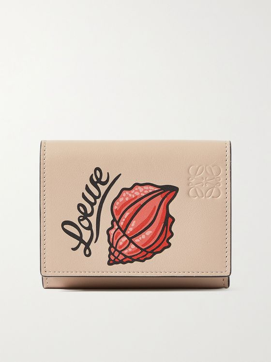 LOEWE + Paula's Ibiza Printed Full-Grain Leather Trifold Wallet