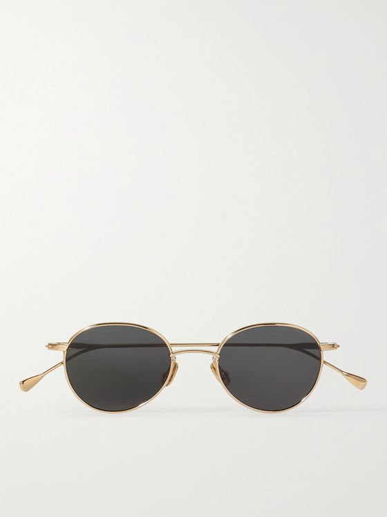 NATIVE SONS Winston O'B Round-Frame Gold-Tone Sunglasses