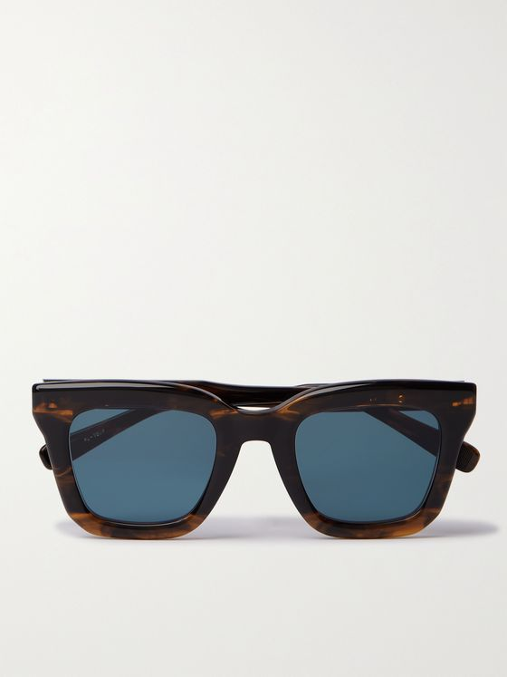 NATIVE SONS Cornell Square-Frame Tortoiseshell Acetate Sunglasses