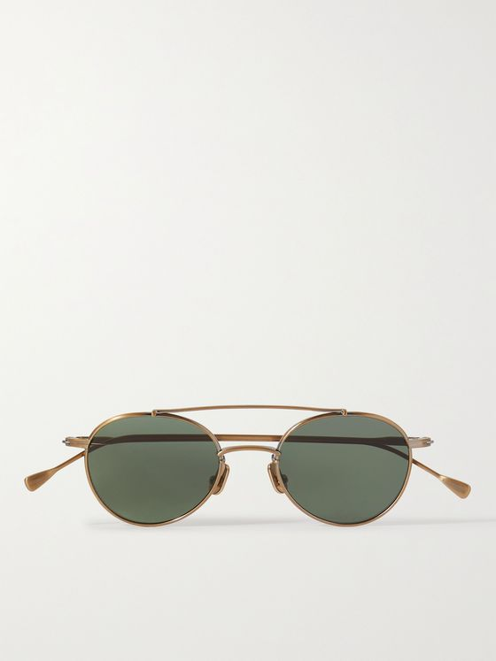 NATIVE SONS Mr Mojo Aviator-Style Gold-Tone Sunglasses
