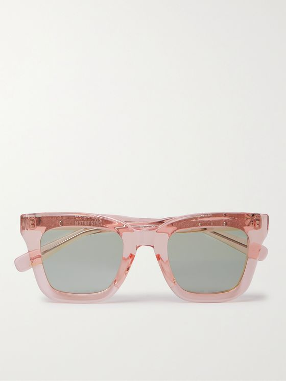 NATIVE SONS Cornell Square-Frame Acetate Sunglasses