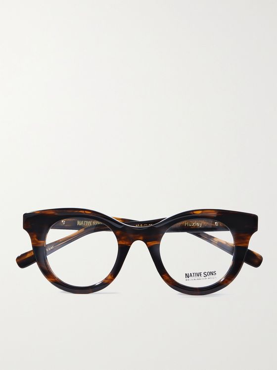 NATIVE SONS Huxley Round-Frame Tortoiseshell Acetate Optical Glasses