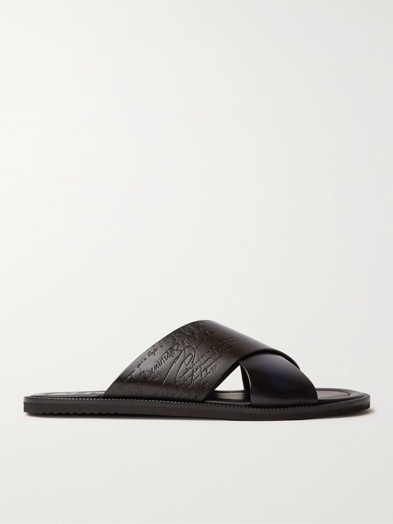 BERLUTI Sifnos Scritto Leather Sandals