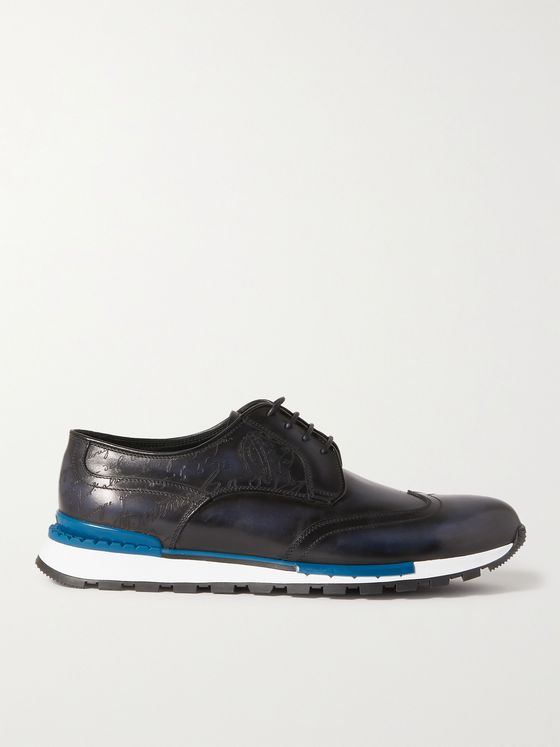 BERLUTI Fast Track Scritto Venezia Leather Sneakers