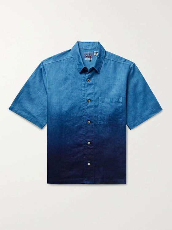 BLUE BLUE JAPAN Dégradé Linen Shirt