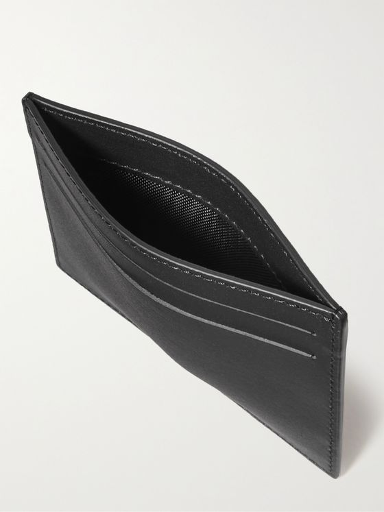 WANT LES ESSENTIELS Branson Logo-Debossed Textured and Smooth Leather Cardholder