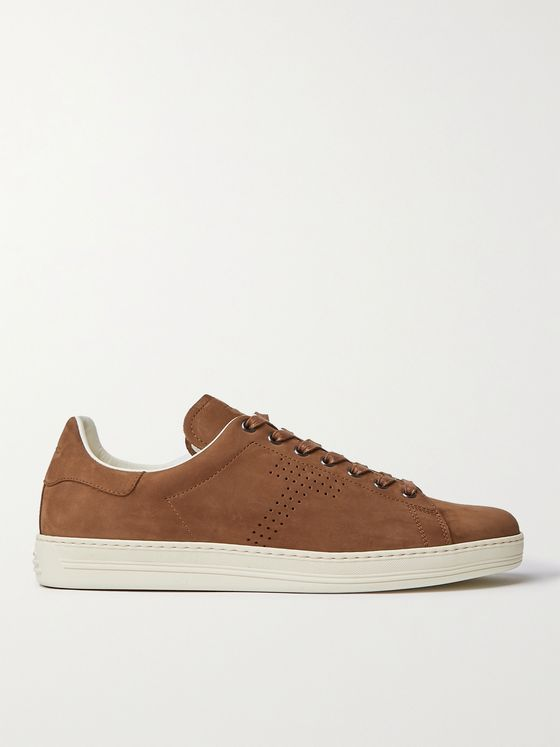 TOM FORD Warwick Perforated Nubuck Sneakers
