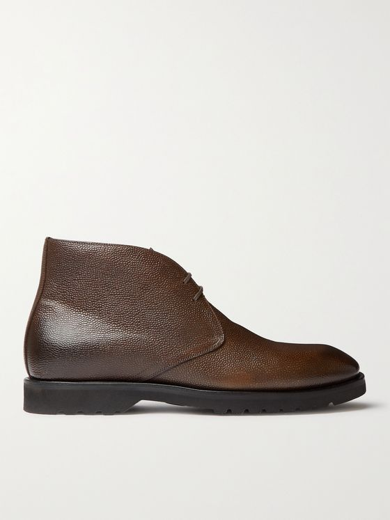 TOM FORD Kensington Pebble-Grain Leather Desert Boots