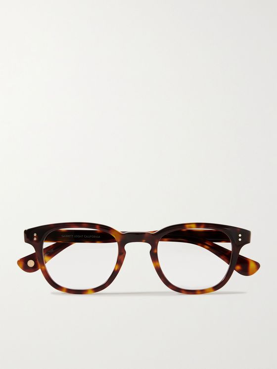 GARRETT LEIGHT CALIFORNIA OPTICAL Douglas Square-Frame Tortoiseshell Acetate Optical Glasses