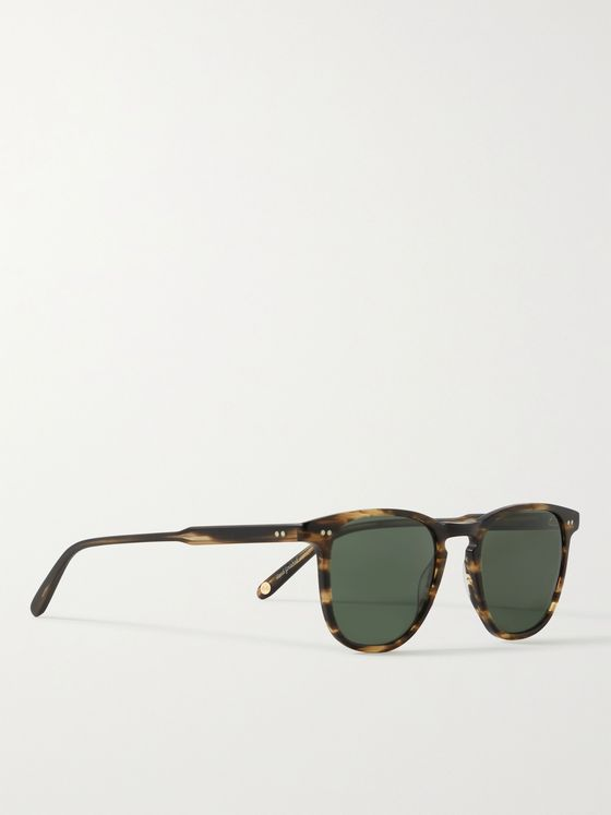 GARRETT LEIGHT CALIFORNIA OPTICAL Brooks 47 D-Frame Tortoiseshell Matte-Acetate Sunglasses