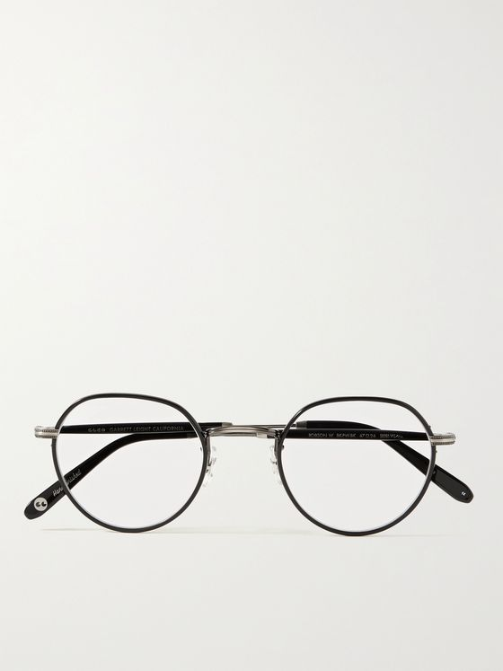 GARRETT LEIGHT CALIFORNIA OPTICAL Robson W Round-Frame Stainless Steel and Acetate Optical Glasses