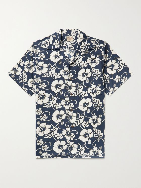 GO BAREFOOT Pareau Camp-Collar Printed Cotton Shirt