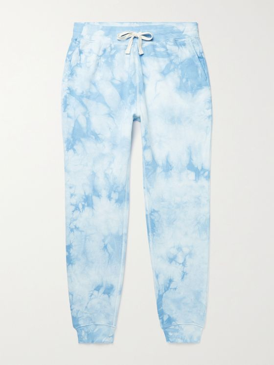 FAHERTY Slim-Fit Tapered Tie-Dyed Loopback Cotton-Jersey Sweatpants