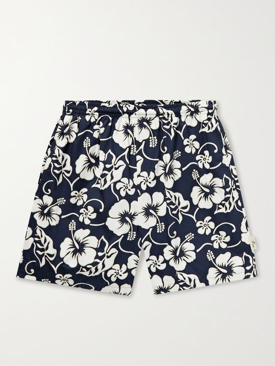 GO BAREFOOT Pareau Printed Cotton-Blend Shorts