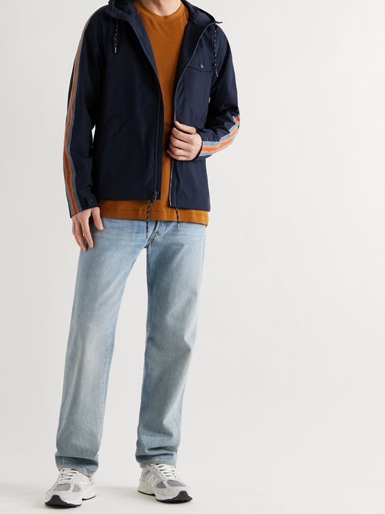 FAHERTY All Conditions Webbing-Trimmed Recycled Shell Hooded Jacket