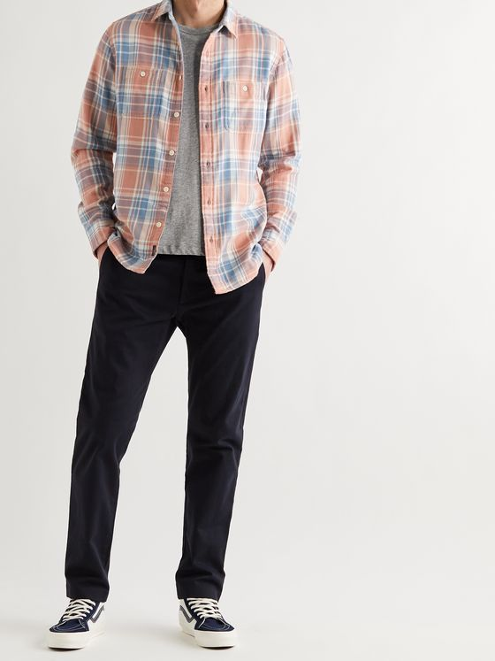 FAHERTY Roadtrip Checked Organic Cotton Shirt
