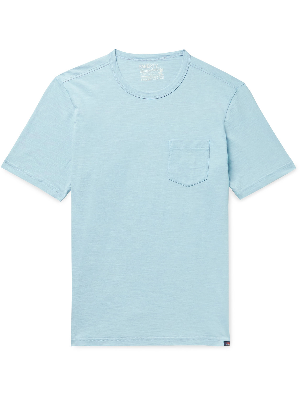 Faherty Cottons SUNWASHED ORGANIC COTTON-JERSEY T-SHIRT