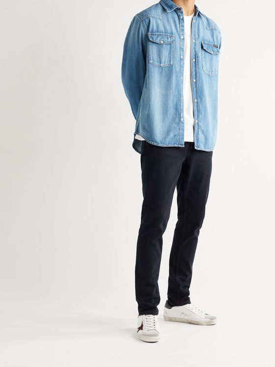 NUDIE JEANS George Organic Denim Western Shirt