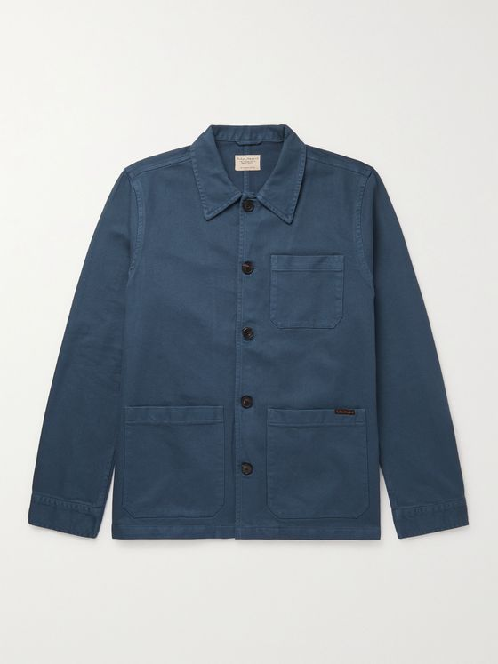 NUDIE JEANS Barney Worker Cotton-Twill Jacket
