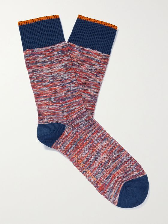 NUDIE JEANS Rasmusson Mélange Organic Cotton-Blend Socks