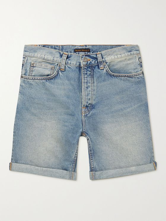 NUDIE JEANS Josh Denim Shorts