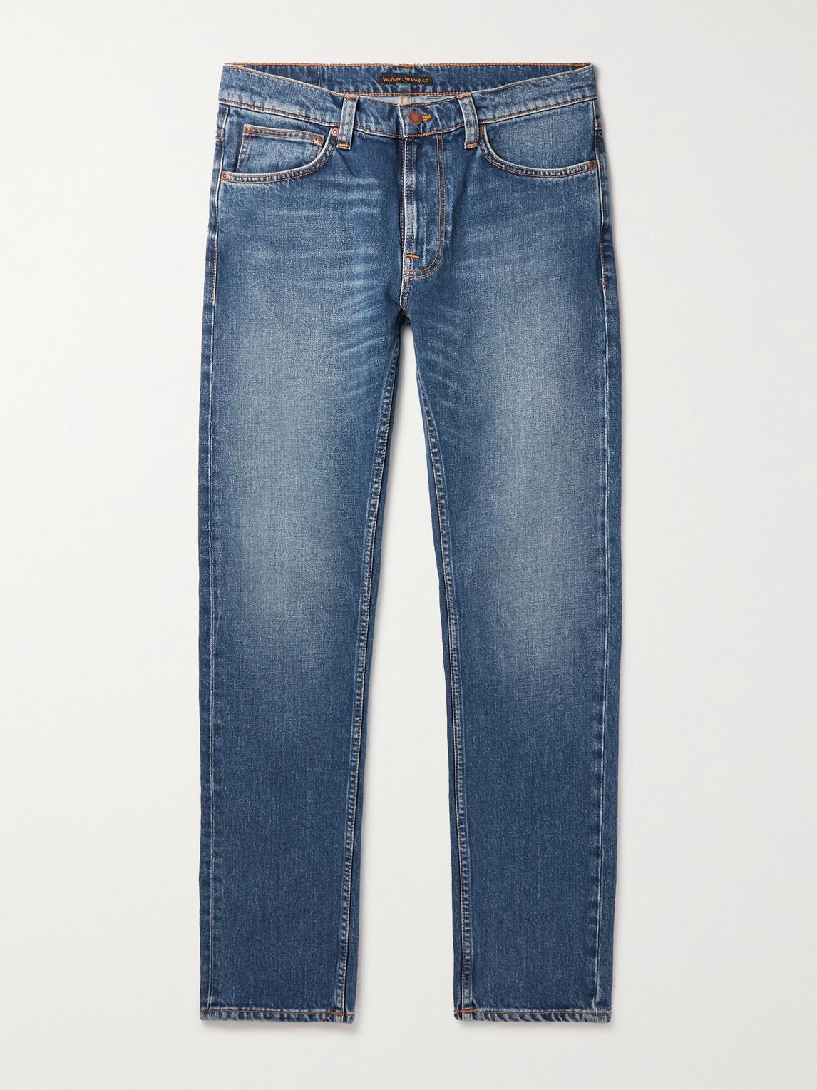 Nudie Jeans Lean Dean Jeans (slim Tapered) - Indigo Exile In Blue